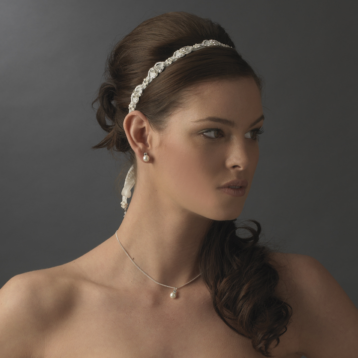 satin ribbon wedding headbands