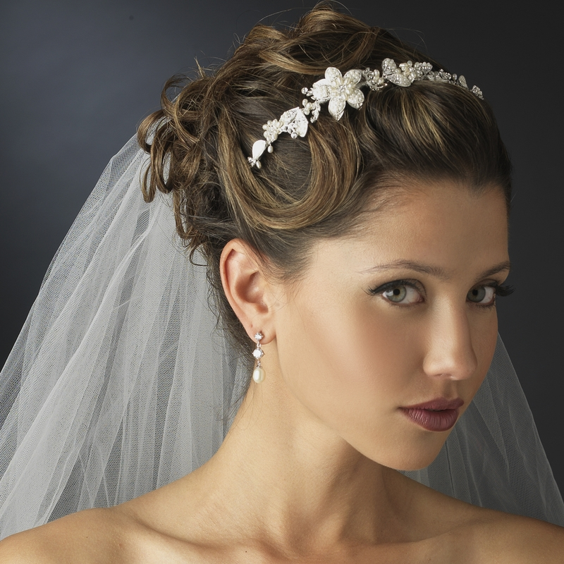 Headpieces For Wedding Headbands: Floral Bridal Headband Headpieces