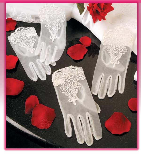 Sheer Flower Girl Gloves