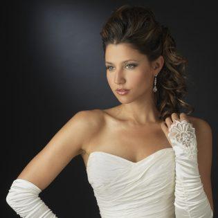 fingerless bridal gloves