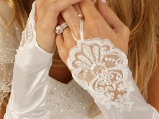 fingerless bridal gloves
