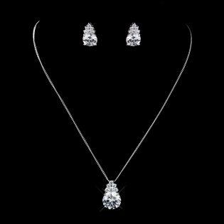 CZ Bridal Necklace Set