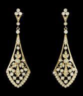 Gold Bridal Earrings