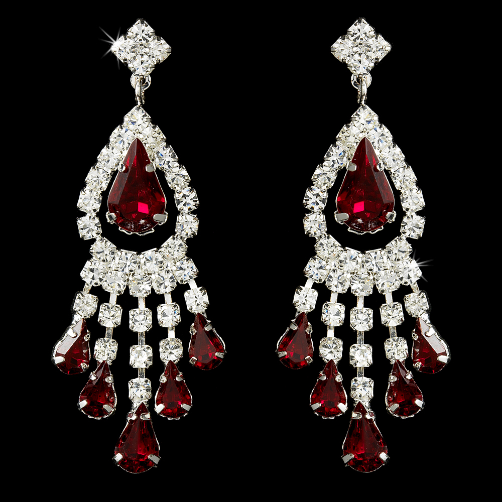 Red Designer Chandelier Earrings: Winter Wedding Trends And Style