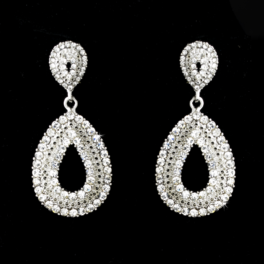 Celebration rhinestone drop earrings elegant bridal hair for Fall into color jewelry walmart
