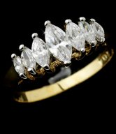 Cubic Zirconia Bridal Ring