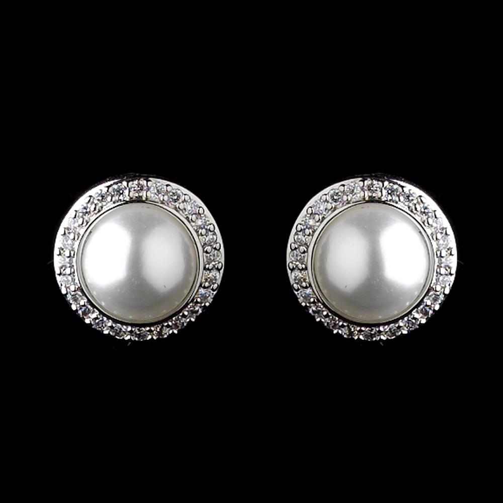 Dazzling Bridal Pearl Stud Earrings