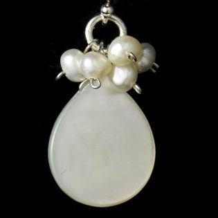 Pearl Cabochon Earrings
