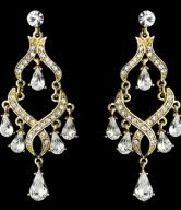 Rhinestone Bridal Chandelier Earrings