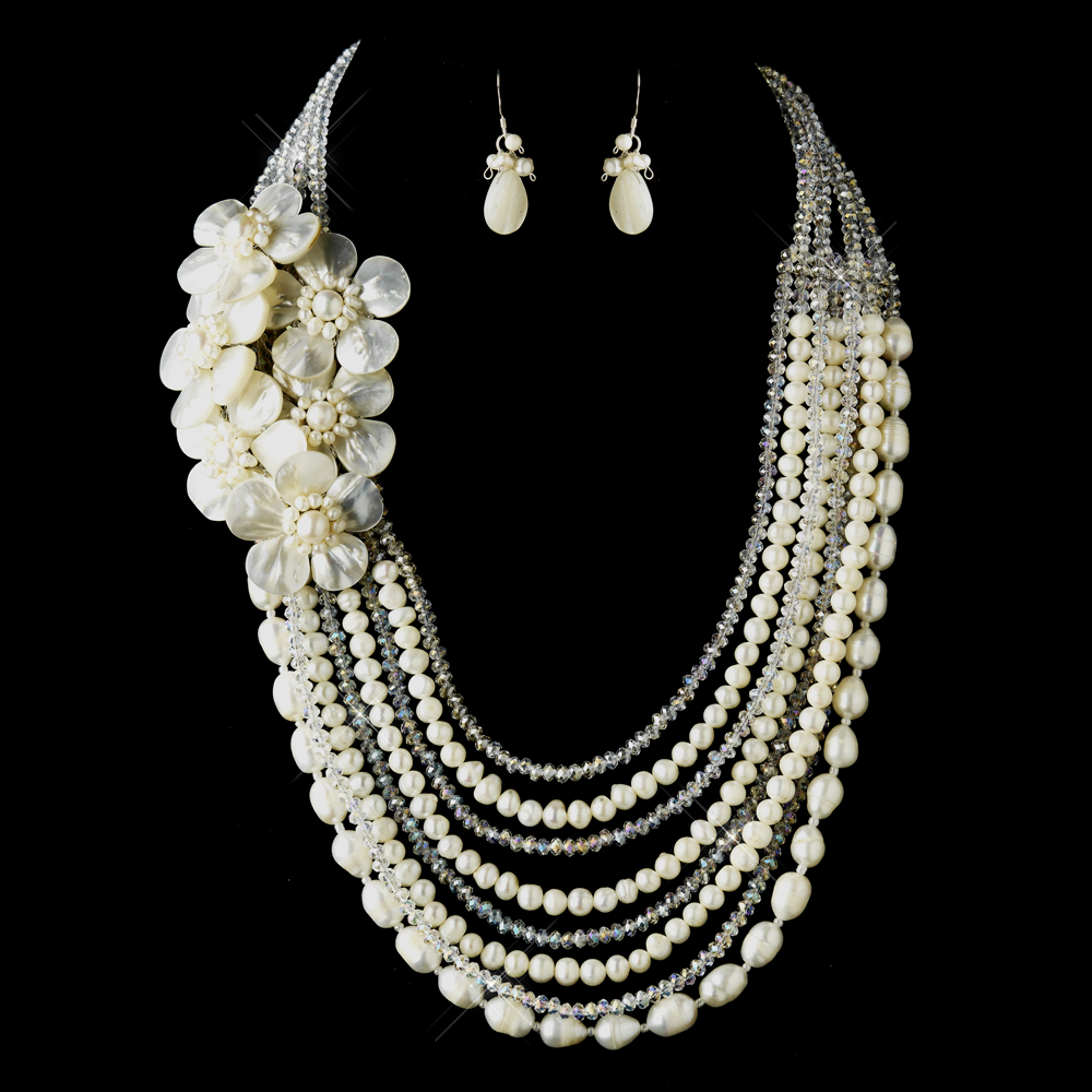 Ivory Pearl Austrian Crystal Wedding Jewelry Elegant Bridal Hair