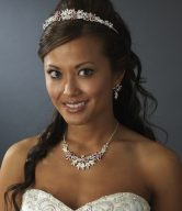 Color-Accented Bridal Jewelry Sets