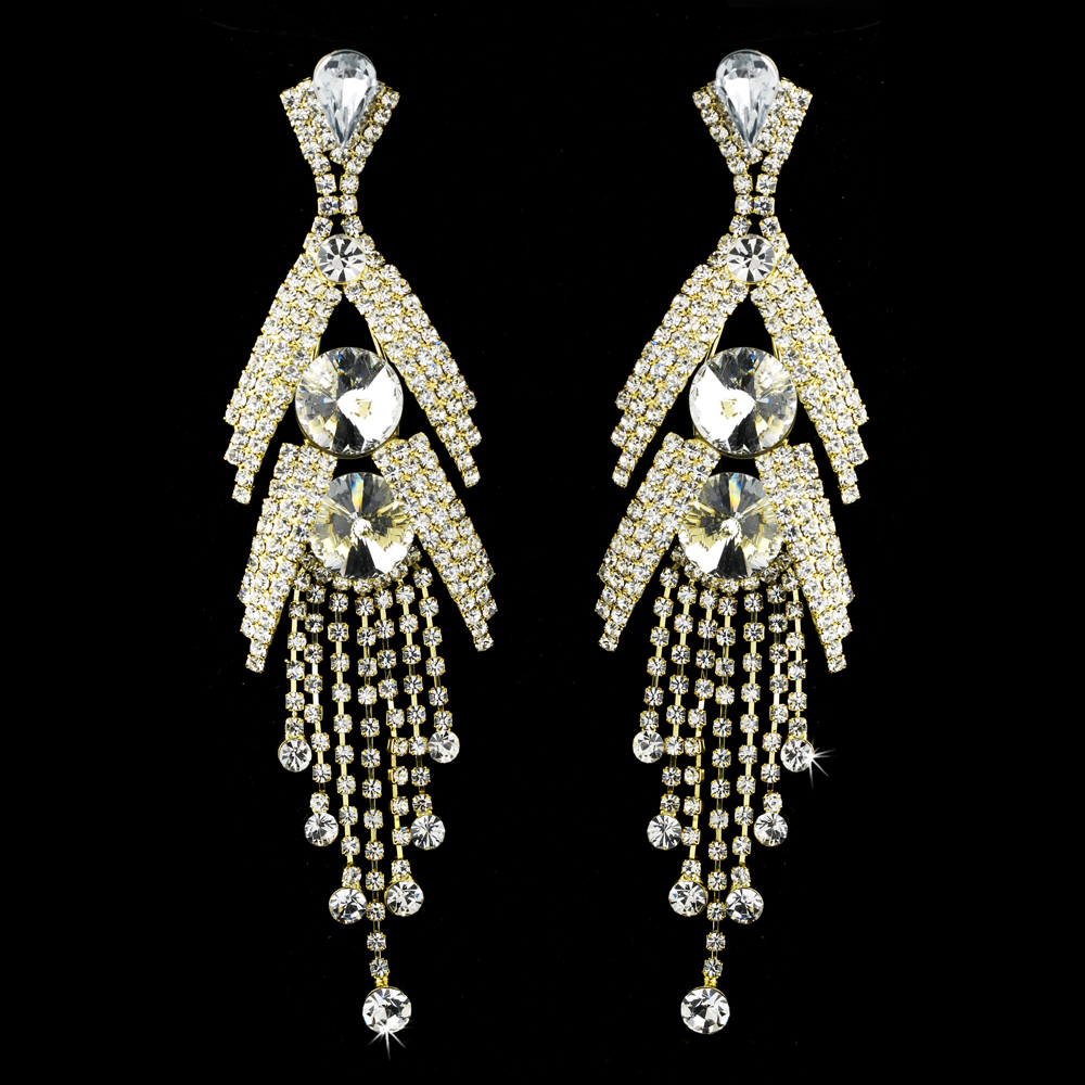 Marquise bridal chandelier earrings elegant bridal hair for Decor jewelry