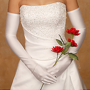 Opera Length Wedding Gloves
