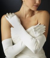 Simple Full Bridal Gloves