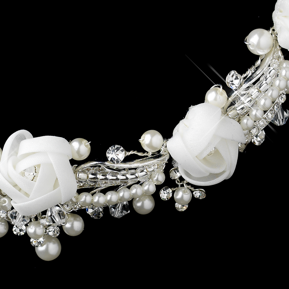 Pearl, Rhinestone & Swarovski Flower Jewelry Sets ...
