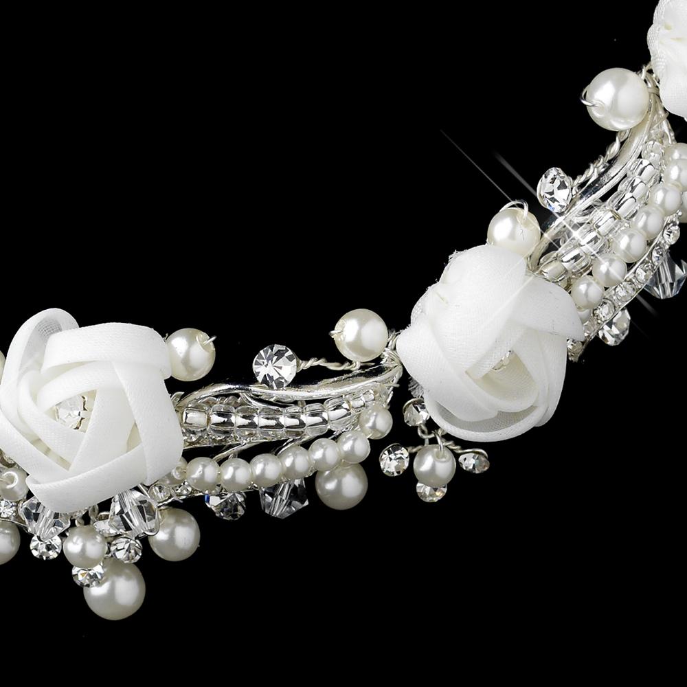 Pearl Rhinestone Amp Swarovski Flower Jewelry Sets