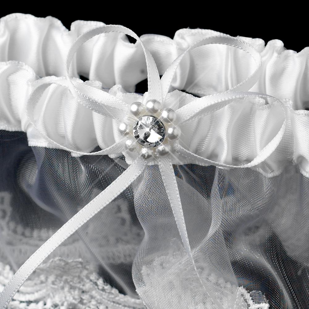 Funny Wedding Garters: Pretty Pearl & Rhinestone Bridal Garter