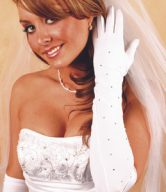Rhinestone Wedding Gloves