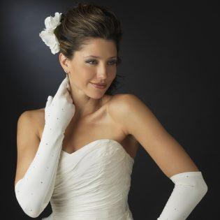 Rhinestone Wedding Gloves