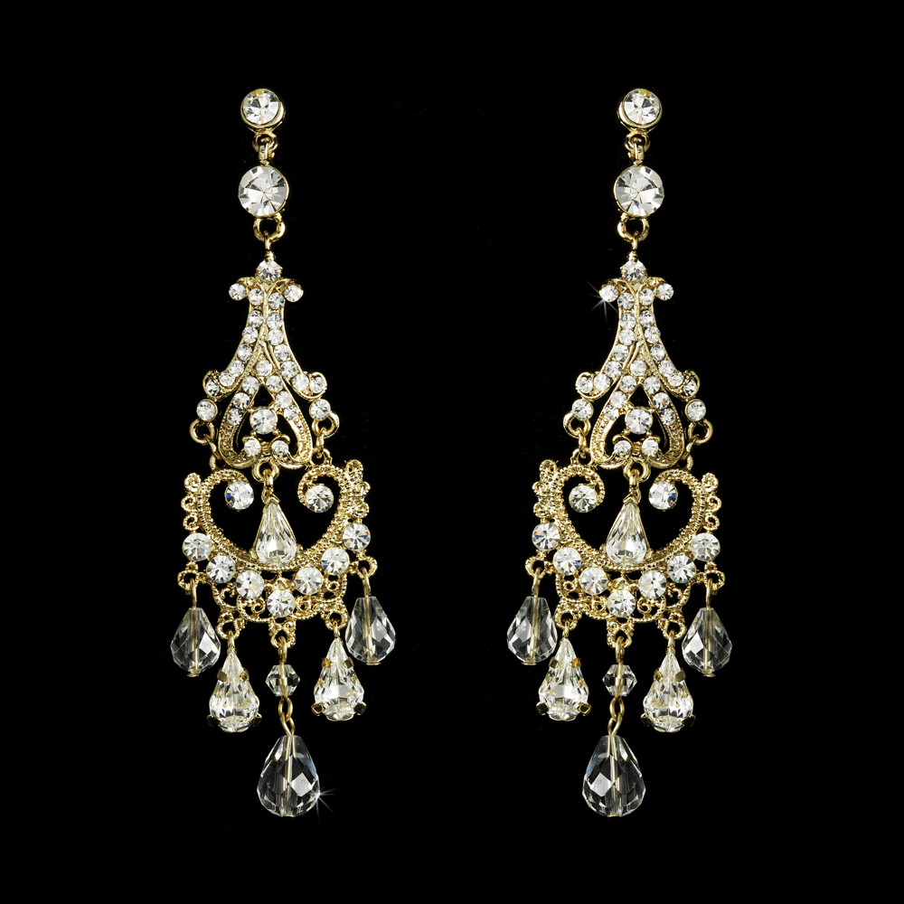 Romantic vintage wedding chandelier earrings elegant bridal hair romantic vintage wedding chandelier earrings arubaitofo Gallery