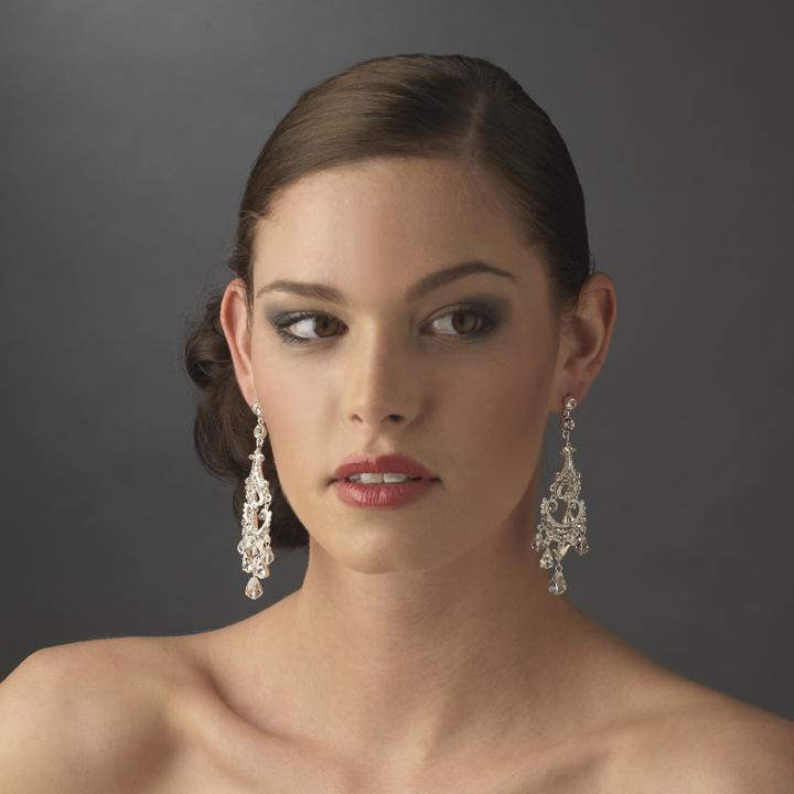 Romantic vintage wedding chandelier earrings elegant bridal hair romantic vintage wedding chandelier earrings aloadofball Images