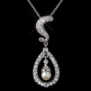 Cubic Zirconia Wedding Necklace Set