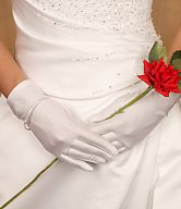Wrist Length Bridal Gloves