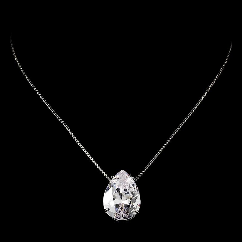Sophisticated Cubic Zirconia Wedding Necklace Set