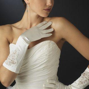 Beaded Bridal Gloves