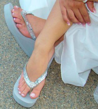 Crystal Bridal Flip Flops