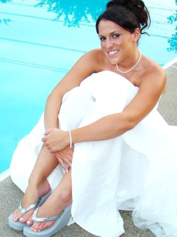 afceb138a911 Breeze Sequin   Crystal Bridal Flip Flops - Elegant Bridal Hair ...
