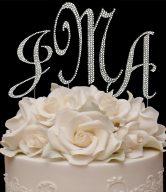 Swarovski Monogram Cake Toppers