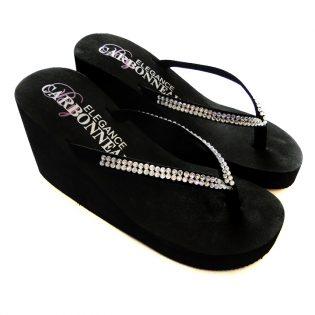 Wedge Bridal Flip Flops