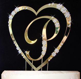 Heart Cake Topper Set