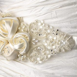 Floral Wedding Sash