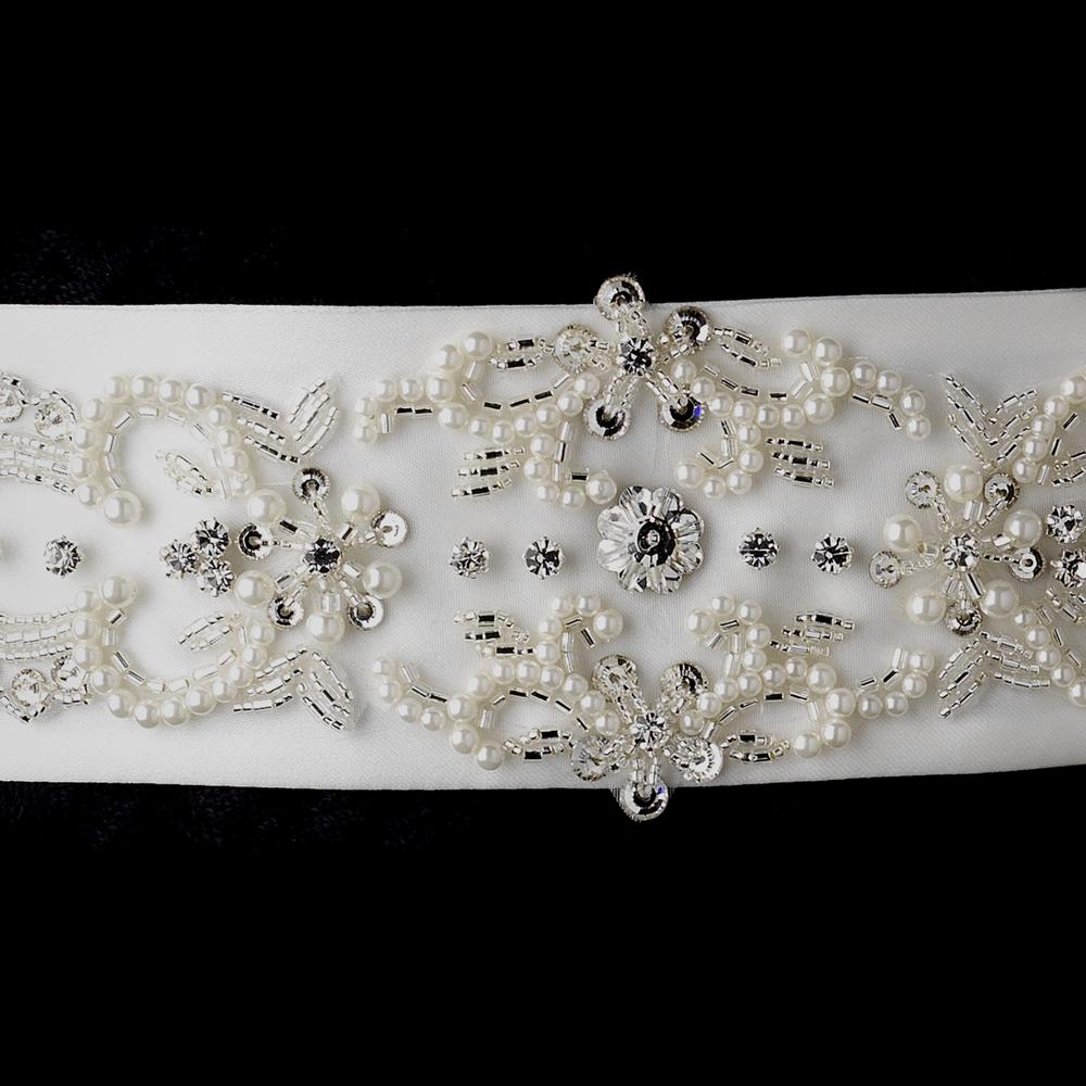 Yean Wedding Hair Vine Long Bridal Headband Hair Accessories for Bride and Bridesmaid (cm / inches) (Silver).
