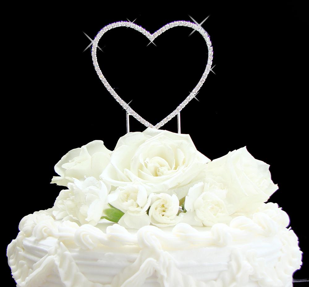 renaissance single heart wedding cake toppers elegant bridal hair accessories. Black Bedroom Furniture Sets. Home Design Ideas