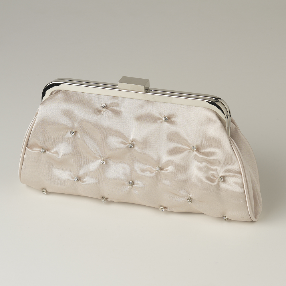 Satin Bridal Clutch Bag - Elegant Bridal Hair Accessories