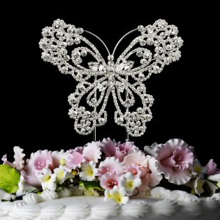 Crystal Butterfly Cake Topper