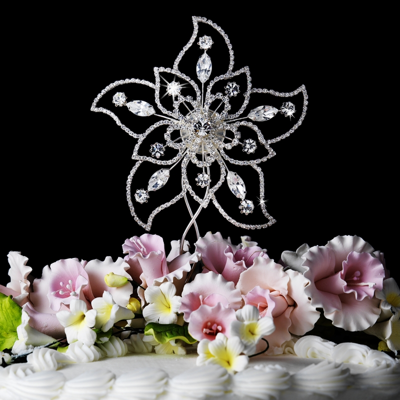 sparkle wedding cake toppers sparkling rhinestone flower cake topper bridal 20305