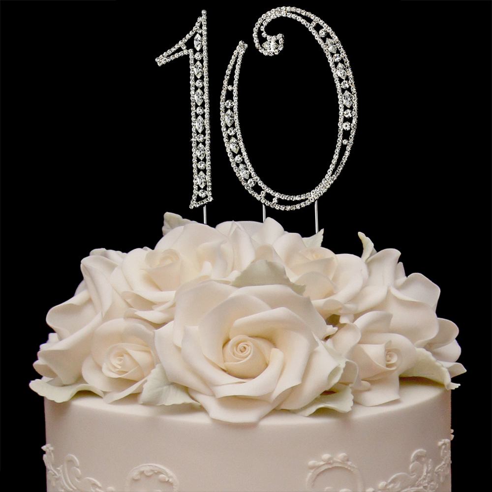 Diamond Anniversary Cake Toppers