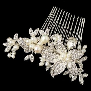 Crystal Flower Bridal Comb