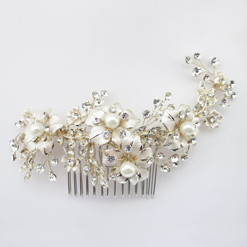 Petite flora pearl bridal comb elegant bridal hair for Where to buy wedding accessories
