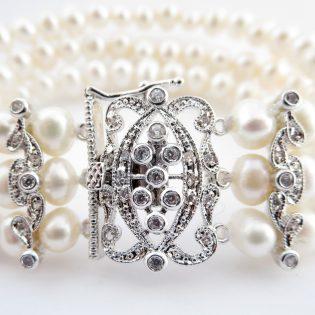 Pearl CZ Bracelet