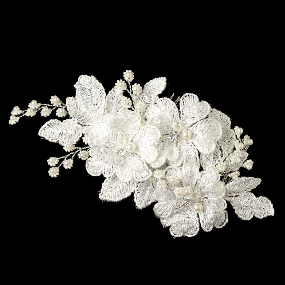 Silverbloom Lace Bridal Comb Elegant Bridal Hair Accessories