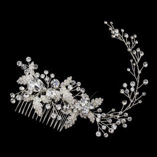 Crystal Flower Bridal Comb