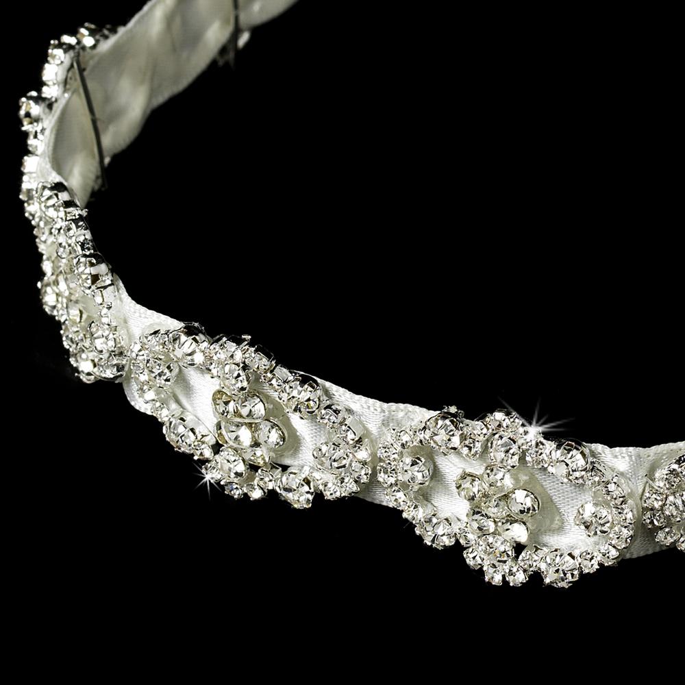 headpieces bridal and wedding headbands resplendent crystal ribbon