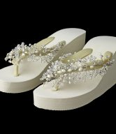 Bridal Wedge Flip Flops