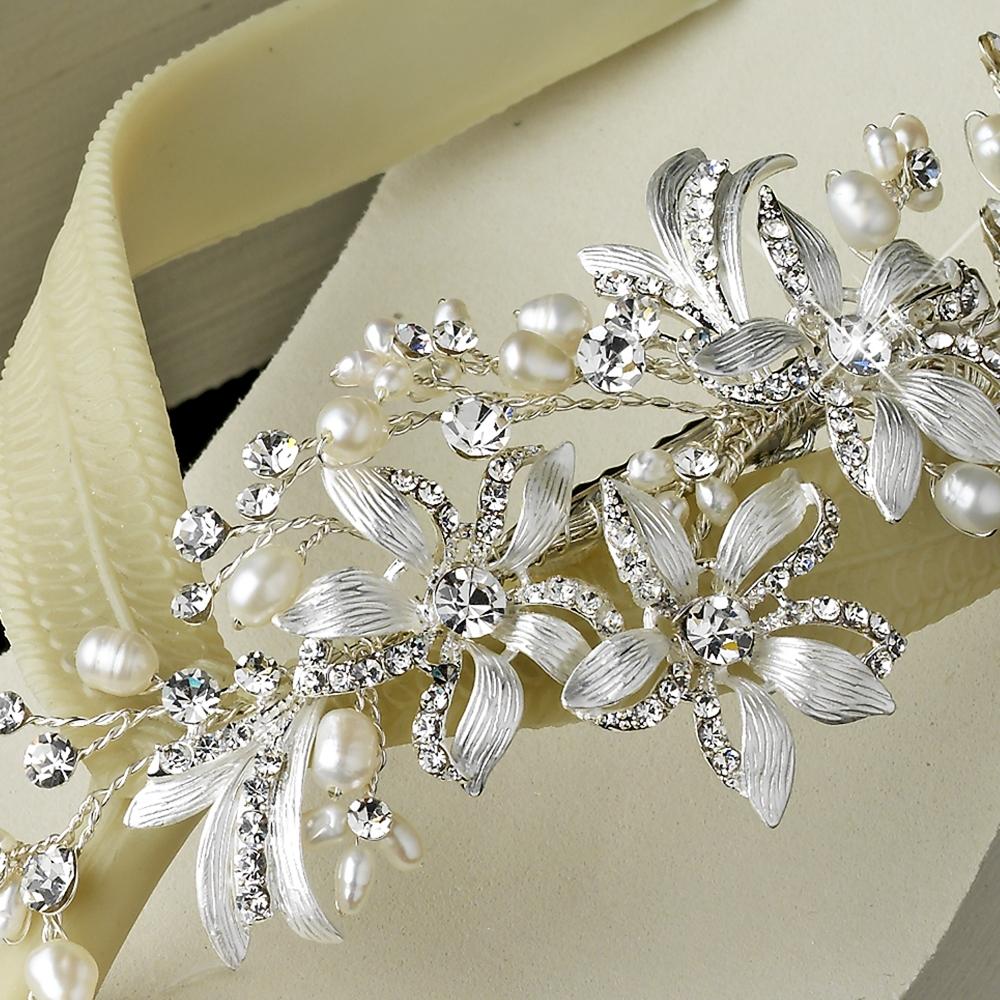 Mimosa Pearl Bridal Flip Flops