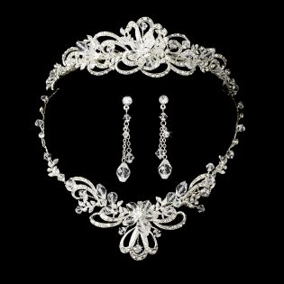 Bridal Tiara Necklace Set